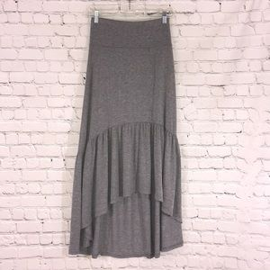 Poof high low jersey skirt
